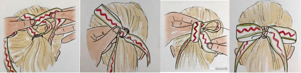القوس الشريط الشعر